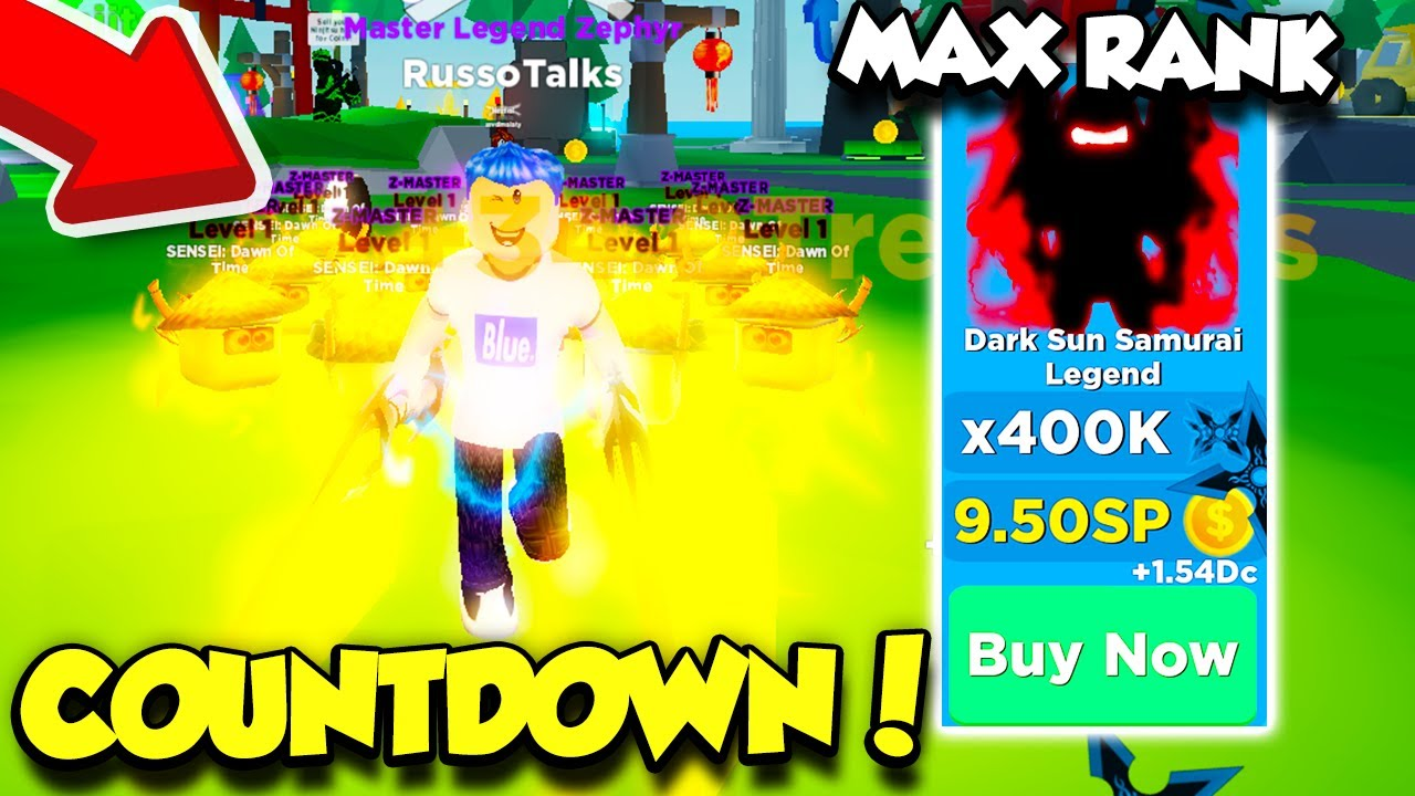 I GOT THE NEW MAX RANK IN NINJA LEGENDS COUNTDOWN UPDATE! (Roblox) thumbnail