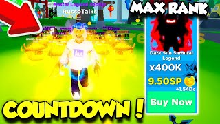I GOT THE NEW MAX RANK IN NINJA LEGENDS COUNTDOWN UPDATE! (Roblox)