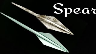 Paper Spear' using A4 sheet - DIY Origami Tutorial by Paper Folds.