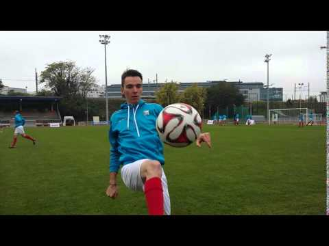 Romain Bardet football contest...