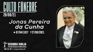 Culto Fúnebre - 28/08/2021 - 11h - Jonas Pereira da Cunha