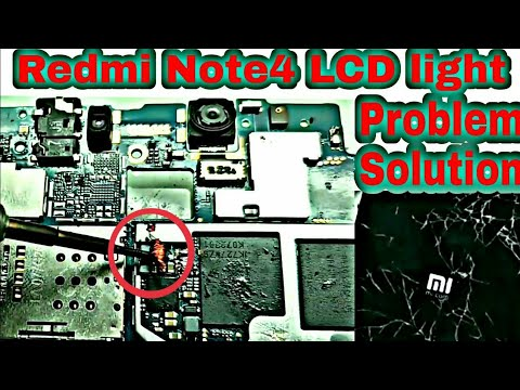 Redmi note 4 Display light Problem without iC 100% succes