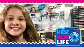 KIDZ BOP Life: Vlog # 11 - Indigo's Craft Room Tour