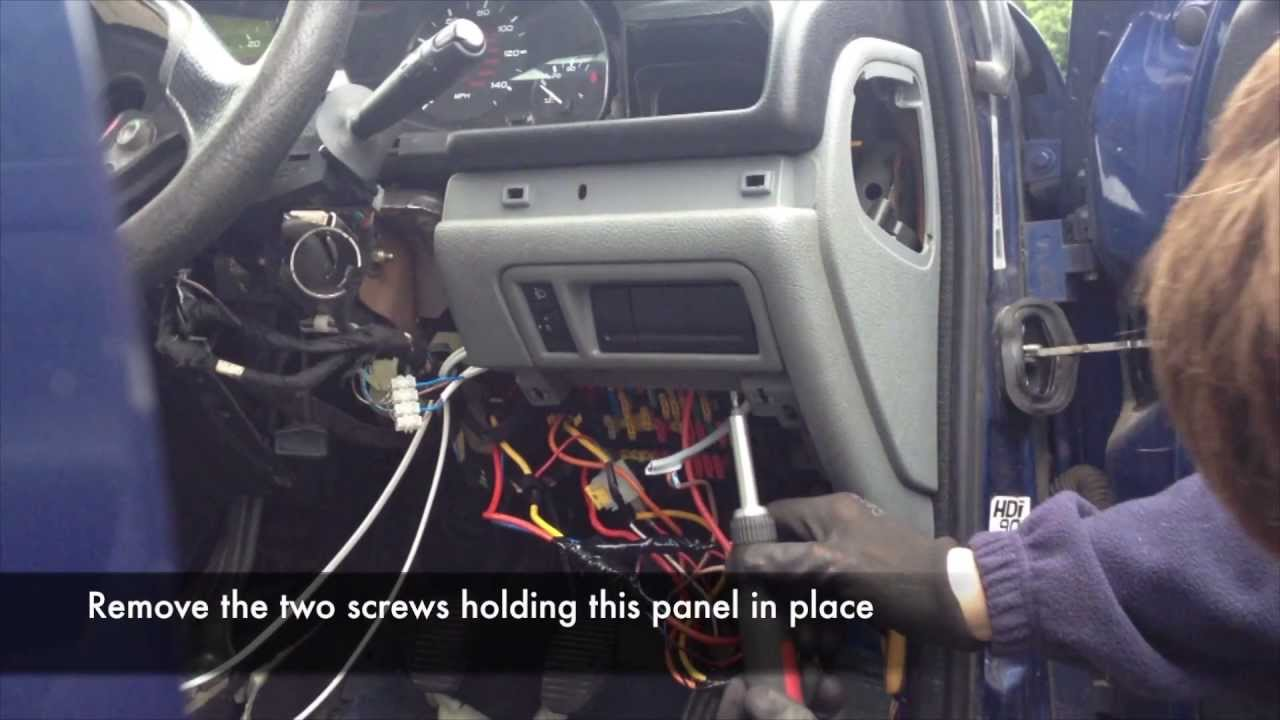 citroen berlingo wiring diagram 2010 toyota tundra speaker bsi removal peugeot 406 youtube