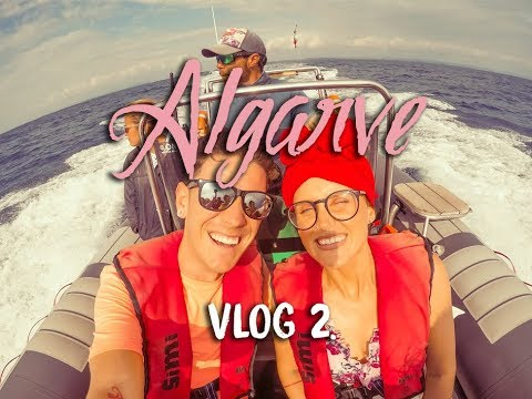 ALGARVE PORTUGAL | VLOG 2 | DOLPHIN AND CAVE BOAT TOUR