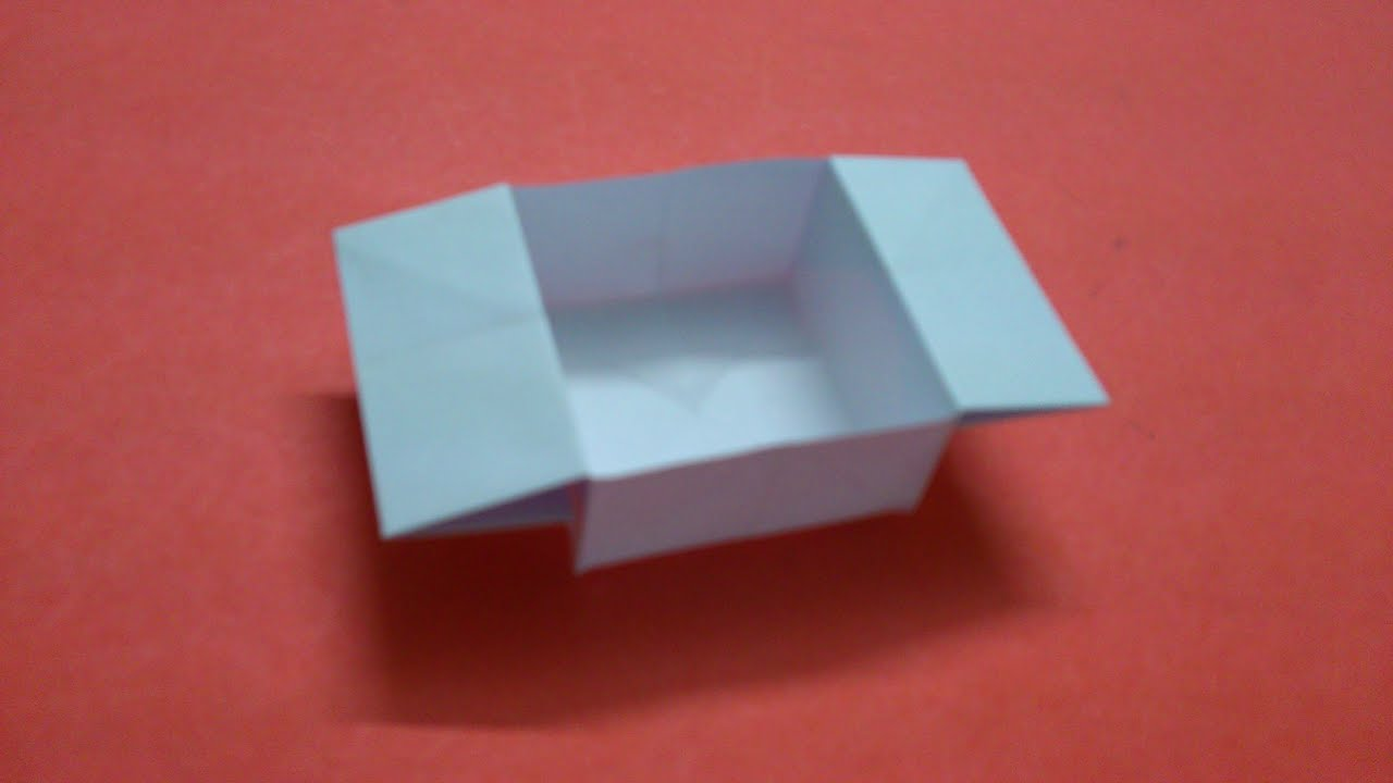 How to Make a Square Paper Box With Flaps - YouTube