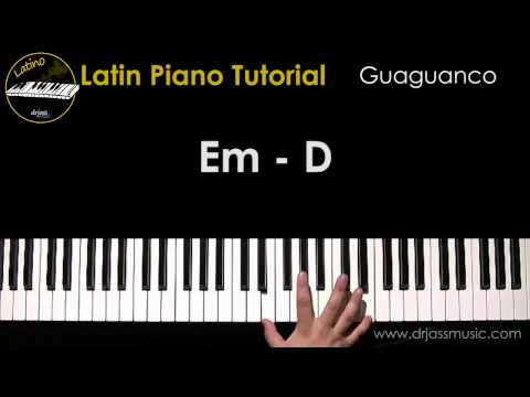DRJASSMUSIC Latin Piano Tutorial - Guaguanco (English)
