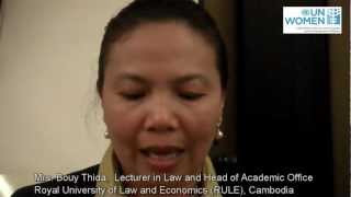 Cambodian participants interviewed during CEDAW Regional Workshop, February 2012