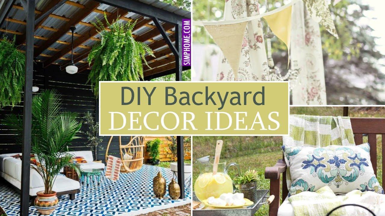 12 Budget Friendly Diy Backyard Decor Ideas Youtube