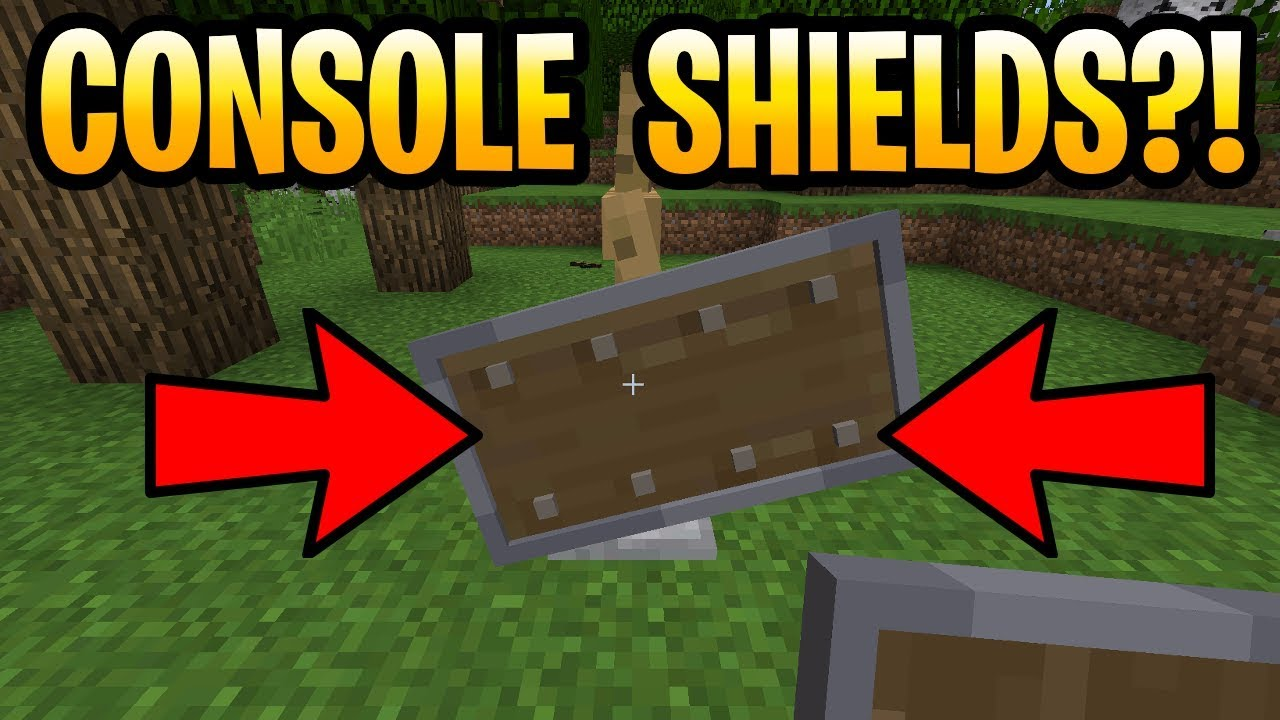 Minecraft SHIELDS COMING TO CONSOLE!? PS10, PS10, Xbox 1060, Xbox One, Wii U &  Switch