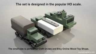 Wood Toy Plans - Vietnam Troop-gun-fuel Trucks
