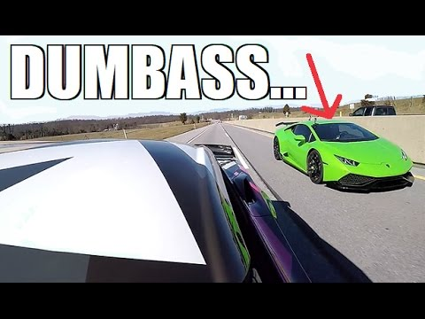 COCKY Lambo Gets DESTROYED By A 700HP Corvette LOL