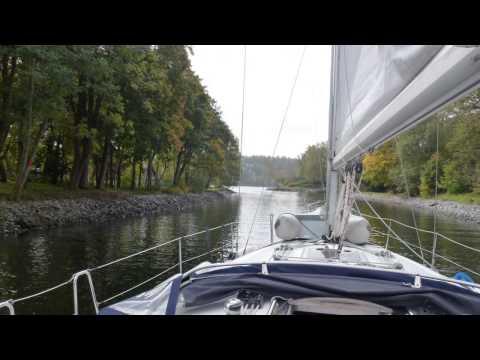 Segling från Gålö till Slagsta Marina i Mälaren