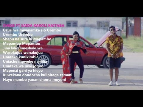 Chege Ft.Saida Karoli - Kaitaba (LYRICS)
