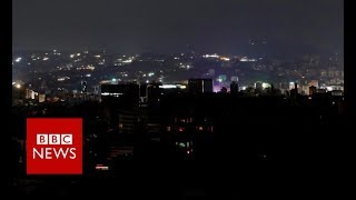 Venezuela blackout: Power outage across the country - BBC News Large parts of crisis-hit Venezuela, including the capital Caracas, have been affected by an extensive electricity blackout. President Nicola's Maduro's ...