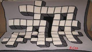 """Вяжем вместе 3D подушку """"Эрудит"""" Ч.2"""