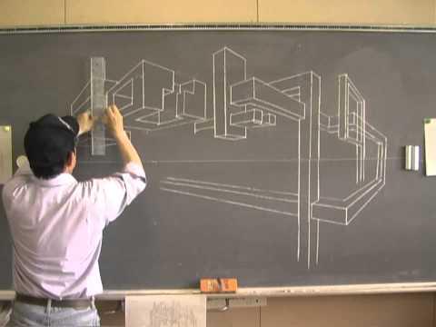 パース(2点透視図法)の画角(立点)の決め方を …