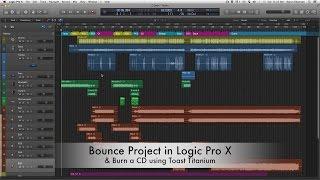 14. Bounce Project (logic pro x) & Burn CD (toast)