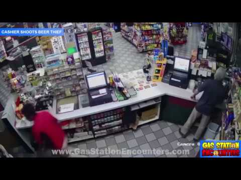 Cashier Shoots Beer Thief