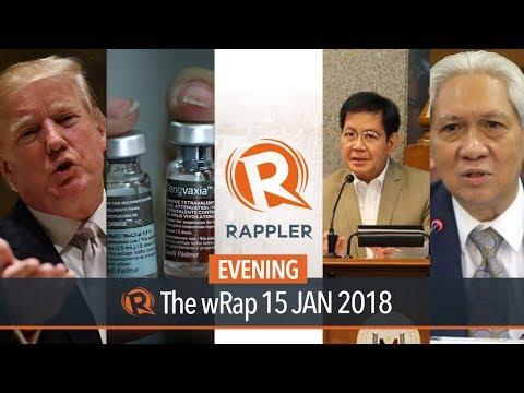 SEC revokes Rappler registration, Dengvaxia refund, Sereno impeachment hearing   Evening wRap
