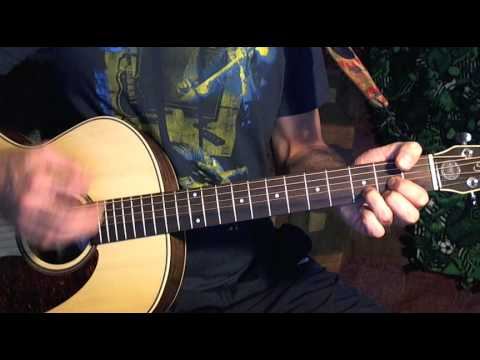 How To Play Guitar - 4 Chord Progression A-C-D-E - With A Backing Track