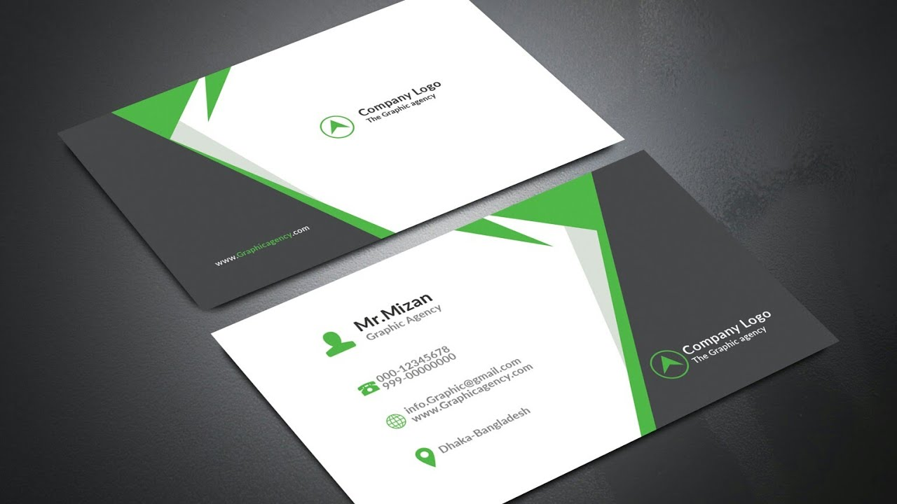 How To Make Professional Business Card Design In Photoshop Bangla