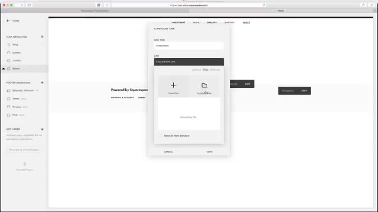 how to upload a pdf to squarespace youtube