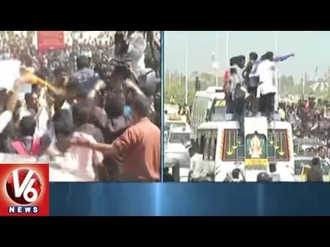 Jallikattu Ban : Massive Protest Near Marina Beach | Chennai | V6 News