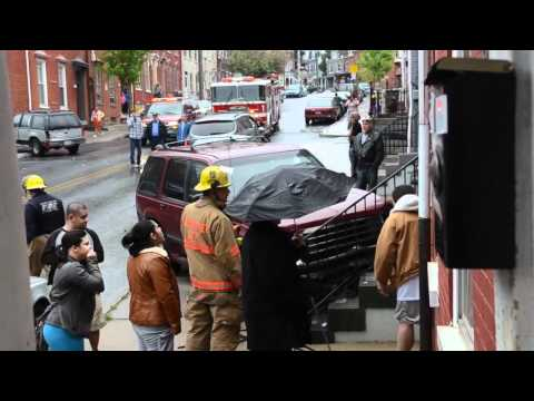 SUV Sideswipes Vehicles, House In Lancaster, PA