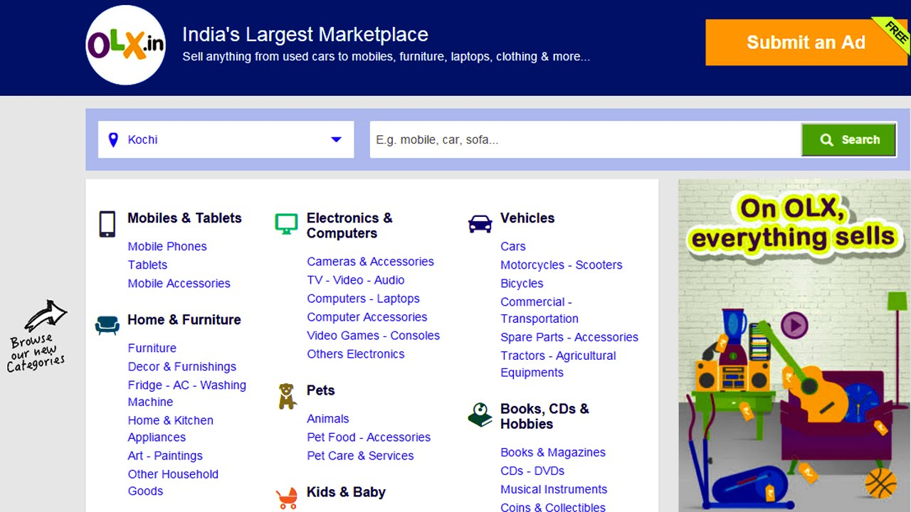 How to create a Classified website like OLX/Quikr FREE