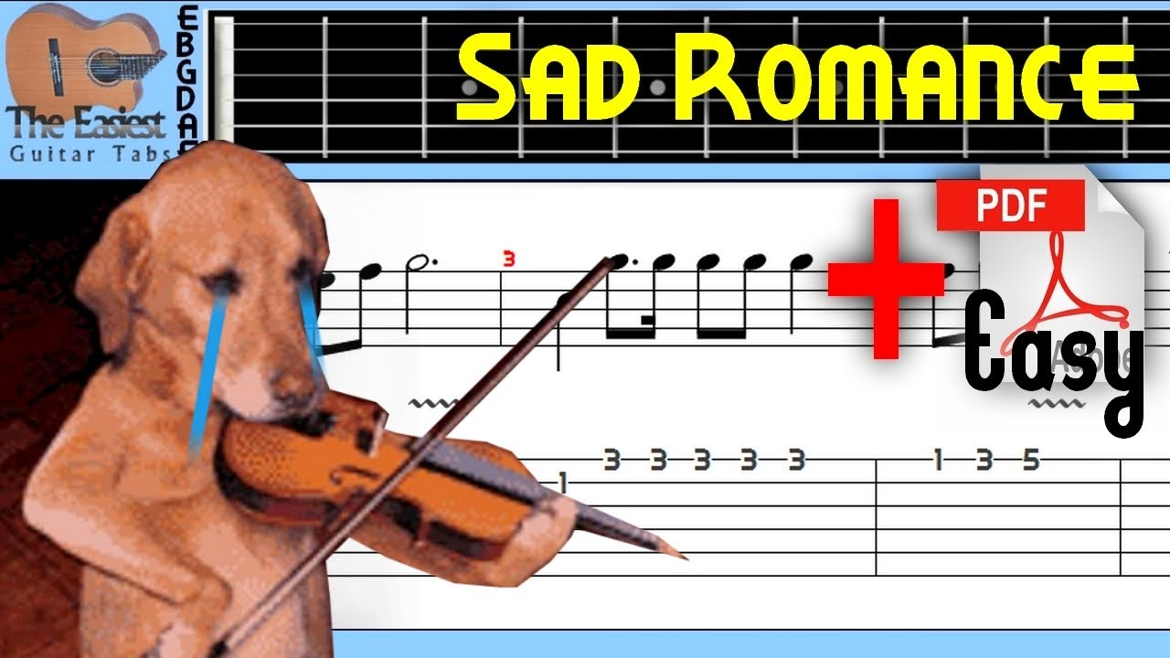 The Easiest Guitar Tabs: Sad Romance - Final Fantasy X Aka Sad violin (Easy)