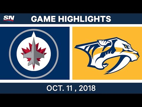 NHL Highlights | Jets vs. Predators - Oct. 11, 2018