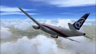 Sukhoi Superjet 100 Mount Salak crash simulation, final version