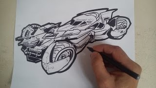 the batmobile drawing lesson