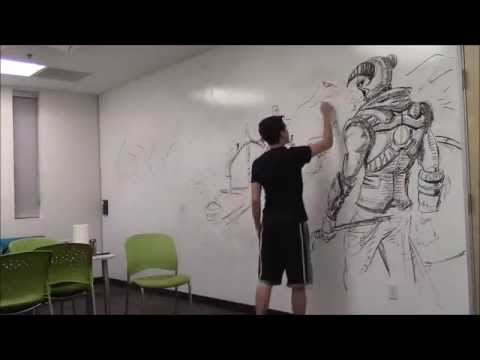 amazing-huge-skyrim-drawing!!!-using-only-an-expo-marker-[how-to-time-lapse]