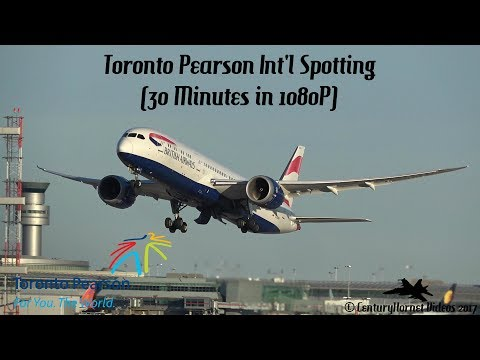 Toronto Pearson Int'l Spotting- April 1st and 2nd, 2017 (28 Minutes in 1080P)
