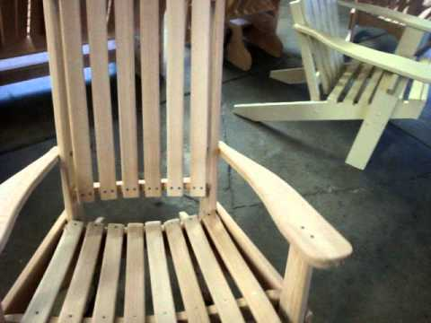Etonnant Amish Made Cypress Porch Rocking Chair