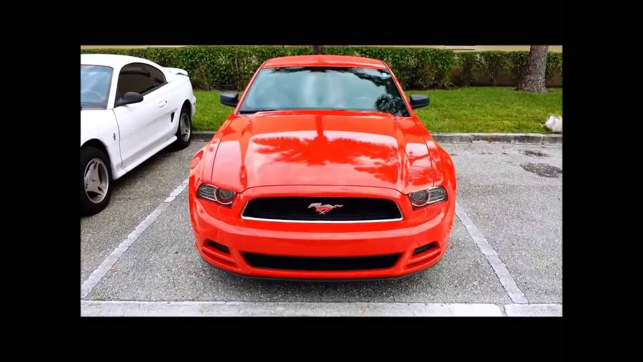 2013 ford mustang v6 red youtube
