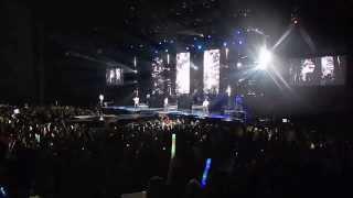 JLS talking and singing Billion Lights at Leeds arena 2013