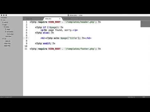 Learn PHP: Basic CMS - Showing A Page (Part 4/8)