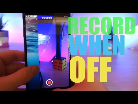 HOW TO SECRETLY RECORD FROM THE LOCKSCREEN WITH THE SCREEN OFF