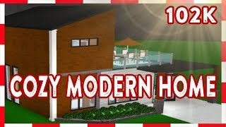 ROBLOX | Welcome To Bloxburg: 102k Cozy Modern Home (Speedbuild)