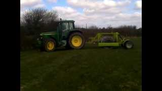 john deere 6910 and alstrong aerator