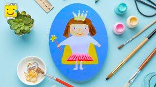 Как нарисовать маленькую фею - урок рисования для детей от 4 лет, гуашь,  рисуем дома поэтапно(Дети рисуют пошагово, сказка, гуашь. Подписывайся на Мир Дизайна - https://vk.com/design_is Получи порцию вдохновения., 2016-10-01T10:48:33.000Z)