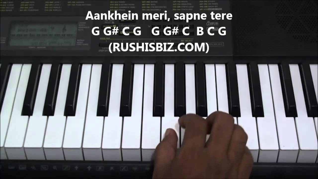Ddlj theme song piano notes