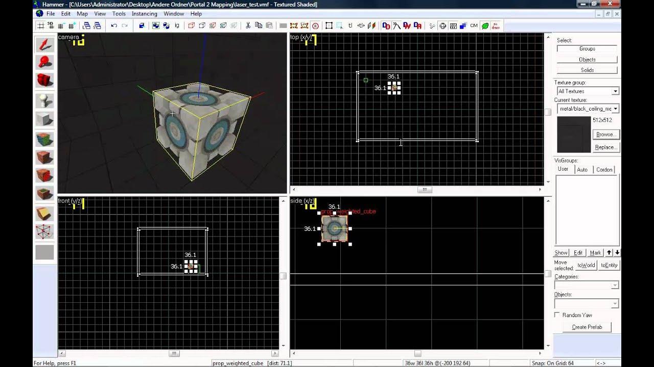 Hammer editor tutorial #27 portal 2 how to make a.
