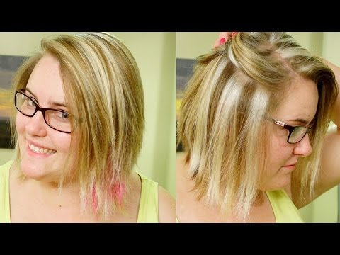 How to Slice Highlights// Chunky Blond Weave Tutorial