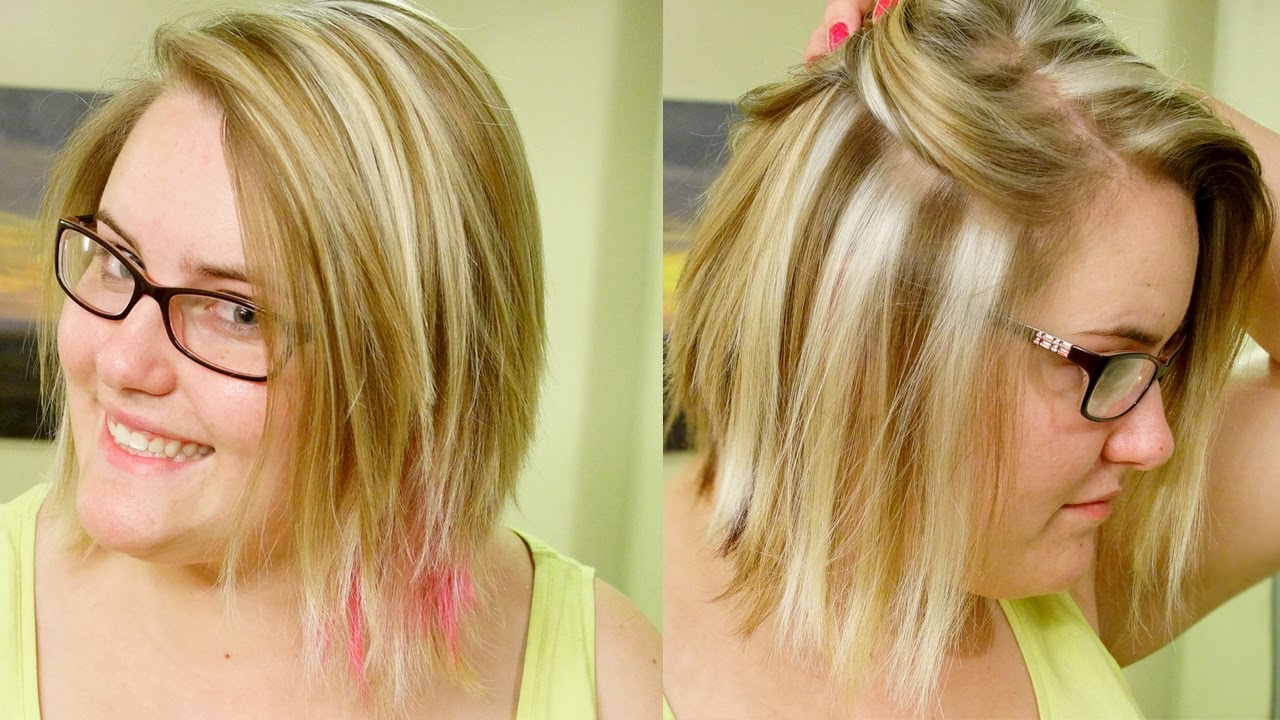How To Slice Highlights Chunky Blond Weave Tutorial Youtube