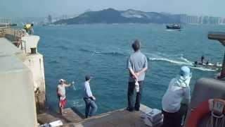 holiday fishing hk 休日釣魚 紫湾m小西湾堤防 香港 jwhkgps 394