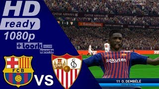Barcelona vs Sevilla - la liga 2018/19